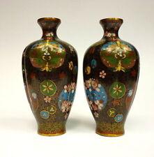 2 x vasi cloisonné SMALTO Giappone del 1860