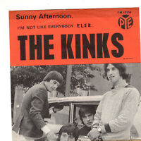 "THE KINKS ~ Sunny Afternoon ~ 1966 Swedish Pye label 2-trk 7"" vinyl single ~ p/s"