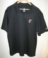 Adidas Mens XL 2XL Los Angeles Clippers NBA Polo Shirt Black w/ Red & White Logo