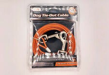 20' Nylon Coated Dog Tie Out Cable Leash For Dogs up to 60lbs Weather Resistant