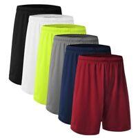 Mens Mesh Basketball Shorts Workout Gym Pockets Short Running Pants Colors S-XXL