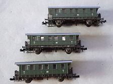 Roco Reisezugwagen 3 Stück 2. Klasse der DB  grün * 24200* Personenwagen Spur N