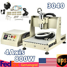 4axis 3040t Cnc Router Engraver Metal Milling Drilling Machine 800w 2d3d Cutter