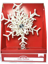 "Holiday Time Christmas 12"" Glittering Sun Burst Tree Topper New"