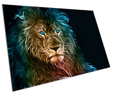 LION LIGHT WALL ART LARGE A1 POSTER 33 X 23 INCH