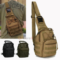 Mens Tactical Sling Chest Bag Assault Pack Messenger Shoulder Bag Molle Backpack