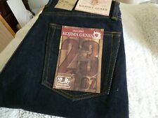 NEW JAPAN MADE KOJIMA JEANS GENES 34/33.5 Straight 23oz Motor Cycle Jeans 1 Wash