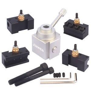 Jinwen Tooling Package Mini Lathe Quick Change Tool Post & Holders Multifid New