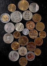monedas diferentes de Peru & bulk mixed coins of Peru