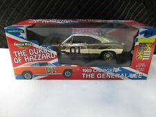 RARE AUTHENTIC 1/18 GEORGE BARRIS THE GENERAL LEE GOLD AMERICAN MUSCLE DIECAST