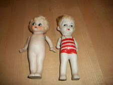 "2 Vintage 30's Japan Bisque Dolls 6 1/2"" Tall Betty Boop & Bathing Suit Cutie"
