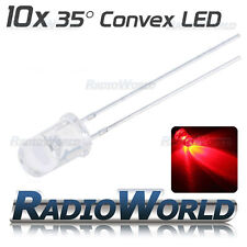 10x 5mm Ultra Bright Clear LED Diode 2.4v Red Light Emitting Diode 35°