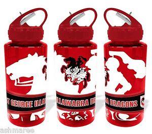 NRL St George Illawarra Dragons Tritan Sports Drink Bottle / Sports Water Bottle