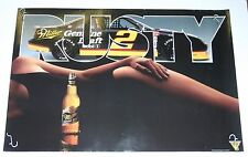 NASCAR MILLER GENUINE DRAFT RUSTY WALLACE AND MODEL COLOR POSTER 20 X 28