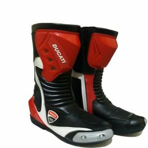 Men's Ducati Motorbike Leather Boots Motorcycle Racing Shoes