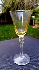 """Fostoria Fairfax TOPAZ YELLOW 3 7/8"""" Cordial Glass 3/4 oz."""