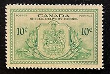 """Canadian Stamp, Scott E11 10c 1946 """"Special Delivery"""" XF M/VLH."""