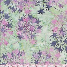 Hoffman Bali Batik 2040 Abalone Agapanthus Pink Blooms By The Yard