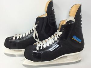 Bauer Charger Comp Ice Skates size 10 E Winter Sports Mens Black Hockey Canada