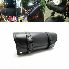 Saddlebags Storage Tool Pouch Roll Barrel Bag For Harley Cruisers Honda Yamah PE