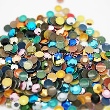 Hotfix Rhinestud Metal Iron on Beads Dress Shoes T-shirt Bags Card Craft Mixed 5mm 1000