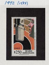 CHILE 1992 STAMP # 1587 MNH RADIO COMMUNICATIONS