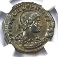 Roman Constantius II BI Nummus Coin (337-361 AD) - Certified NGC MS (UNC)
