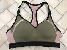 9dd563c3d4d NWOT Victoria s Secret VSX Incredible Sports Bra 34A Green Pink Great  Support!