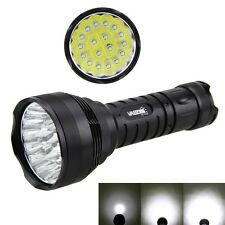Waterproof 60000LM 18x XM-L T6 LED Flashlight Outdoor Torch Tactical Light Lamp