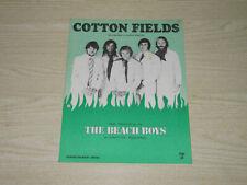 THE BEACH BOYS - COTTON FIELDS - ORIGINAL UK SHEET MUSIC