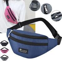 Mens Cycling Waist Belt Bag Fanny Pack Casual Travel Hip Purse Sports Wallet ILJ