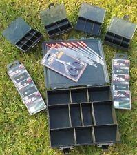 FISHING TACKLE BOX PLUS BIT BOXES FLOATS HOOKS BRAID SCISSORS COARSE CARP