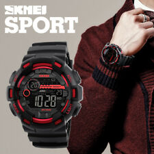 SKMEI Men Digital Wristwatches LED Display Time Waterproof Outdoor Sports Watchs