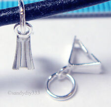 10x Sterling Silver Ice Pick Pendant Bail Clasp N498a