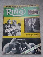 THE RING BOXING MAGAZINE APRIL 1956 ROCKY MARCIANO,CARMEN BASILIO - RARE!!