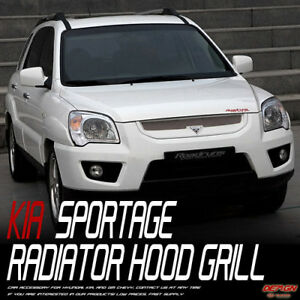 Front NEW Radiator Hood Grill Clear White UD For 09 10 Kia Sportage FL