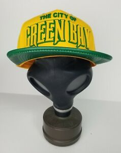 Green Bay Packers New With Tags  Leather  Flat Bill Snapback