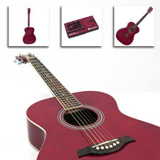 Folk Western-Gitarre Dimavery AW-303 rot 4/4 inkl. Tasche Stimmgerät Metronom