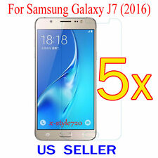 5x Clear Screen Protector Guard Cover Film Shield For Samsung Galaxy J7  (2016)