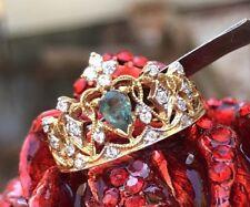 👑 Natural ALEXANDRITE COLOR CHANGE Diamond Wedding Engagement 14k gold RING 6.5