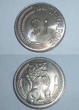 1 pc. 1981 Singapore Lion statue 1 $ one dollar Copper Nickel big coin (SC-54)