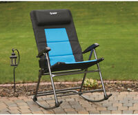 Large Folding Rocking Chair Foldable Camping Seat Outdoor Furniture Patio Rocker