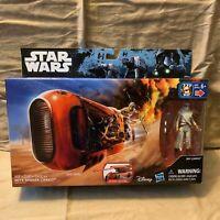 "Hasbro Star Wars The Force Awakens REY'S SPEEDER (JAKKU) w/ Rey (Jakku) 3.5"""