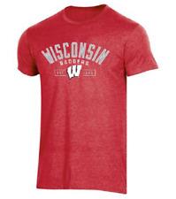 New Champion Men's Ncaa Wisconsin Badgers School Pride T-Shirt Medium
