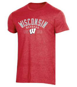 NEW Champion Men's NCAA Wisconsin Badgers School Pride T-Shirt Medium