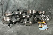 NICE 22 Pieces Set of Saladmaster T304S Stainless Steel Cookware