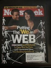 Newsweek Magazine April 2006 Putting the We in Web Flickr Myspace Youtube