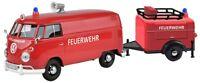 VW T1 Fire Truck + Remolque Motormax Auto Modelo 1:24