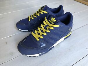 Adidas Trainers Originals zx 750 Navy Blue & Yellow Size UK 8.5
