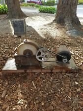 "Vintage 10"" Wet Grinding Stone Craftsman Grinder Wheel Tool WITH MOTOR, RUNS!"